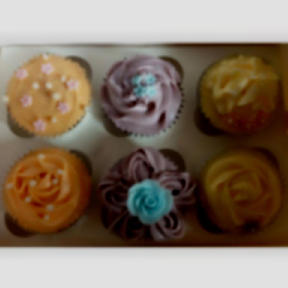 Cupcakes, flowers, glitter, pastels, rose