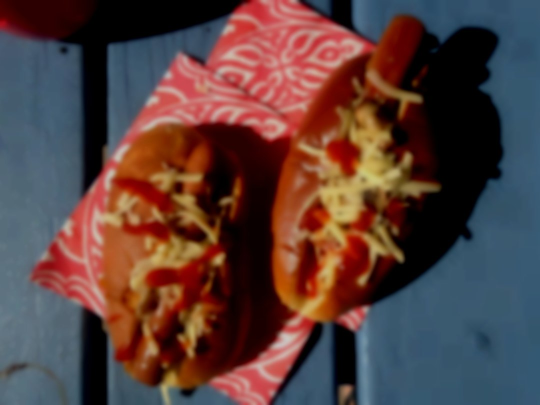 Authentic American hot dogs