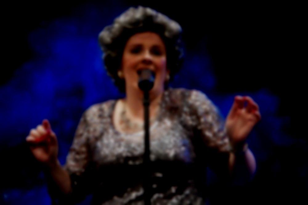 Mrs Hawkins singing