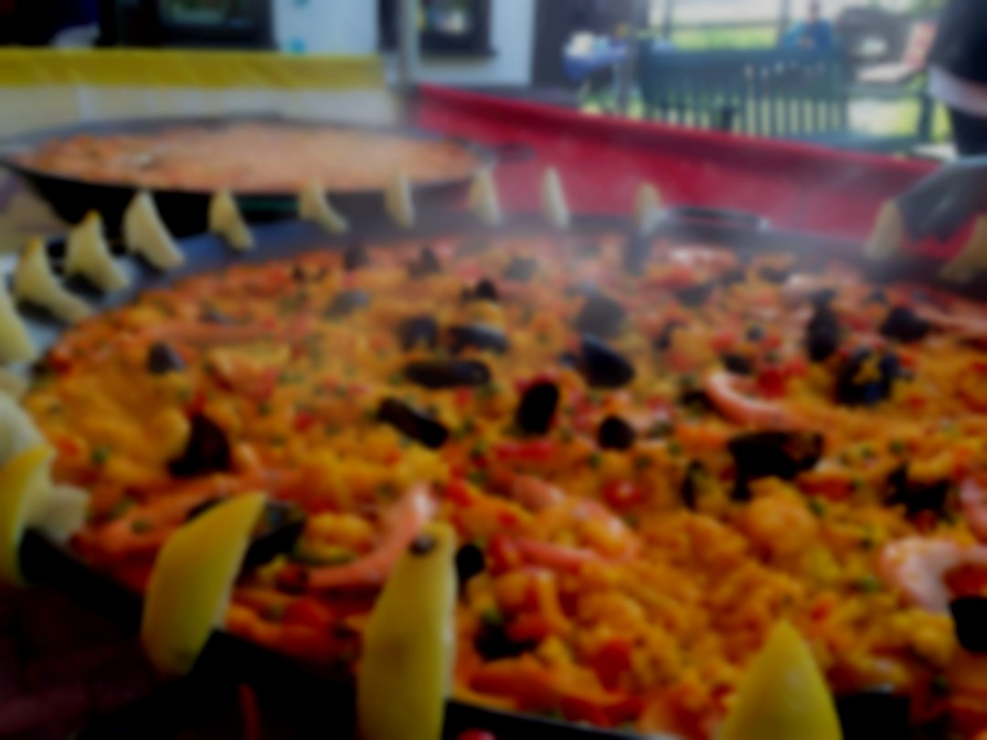Seafood paella (Marisco), one of four different types we offer!
