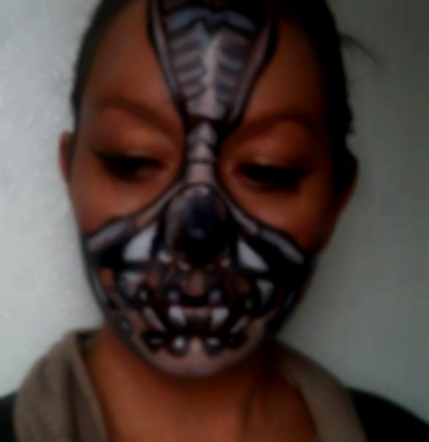 Robot Warrior face paint