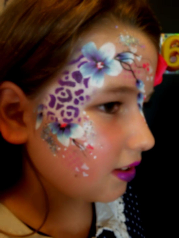 Festival flower eye design face paint