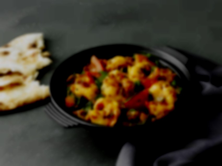 King prawn baby spinach catering indian curry