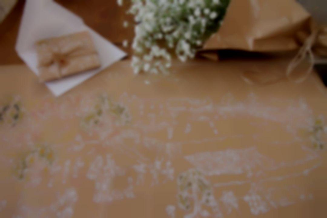Brown paper invites.