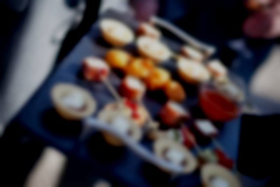 Canapes at The Lemon Tree Restaurant Outside Catering