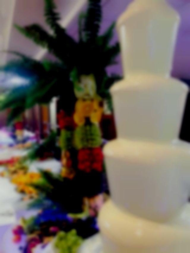 chocolate fountain hire fruit tree display