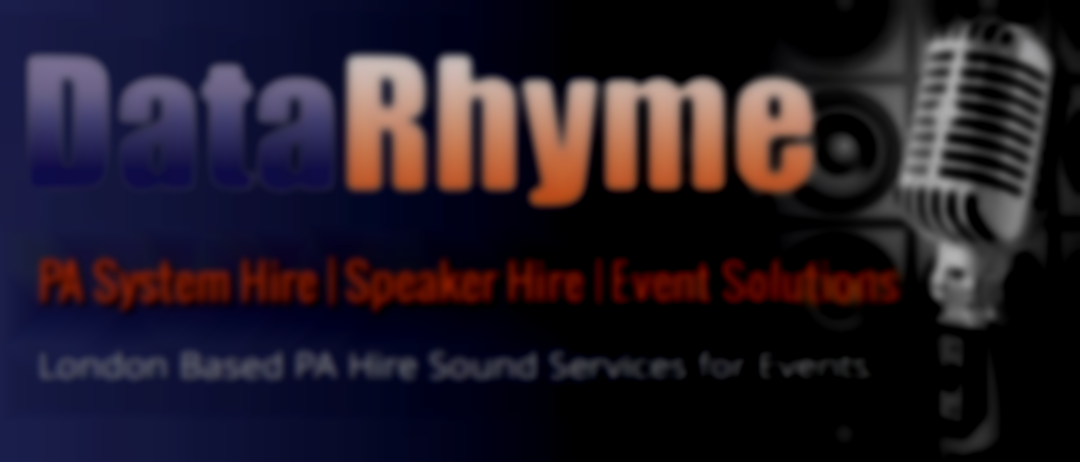 DataDatarhyme - PA Hire, Live Sound and Events