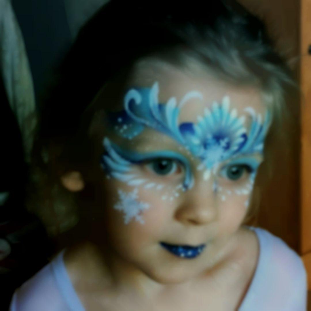 Frozen face paint Childrens party