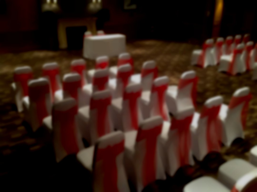 Chair Covers dressing for a wedding ceremony