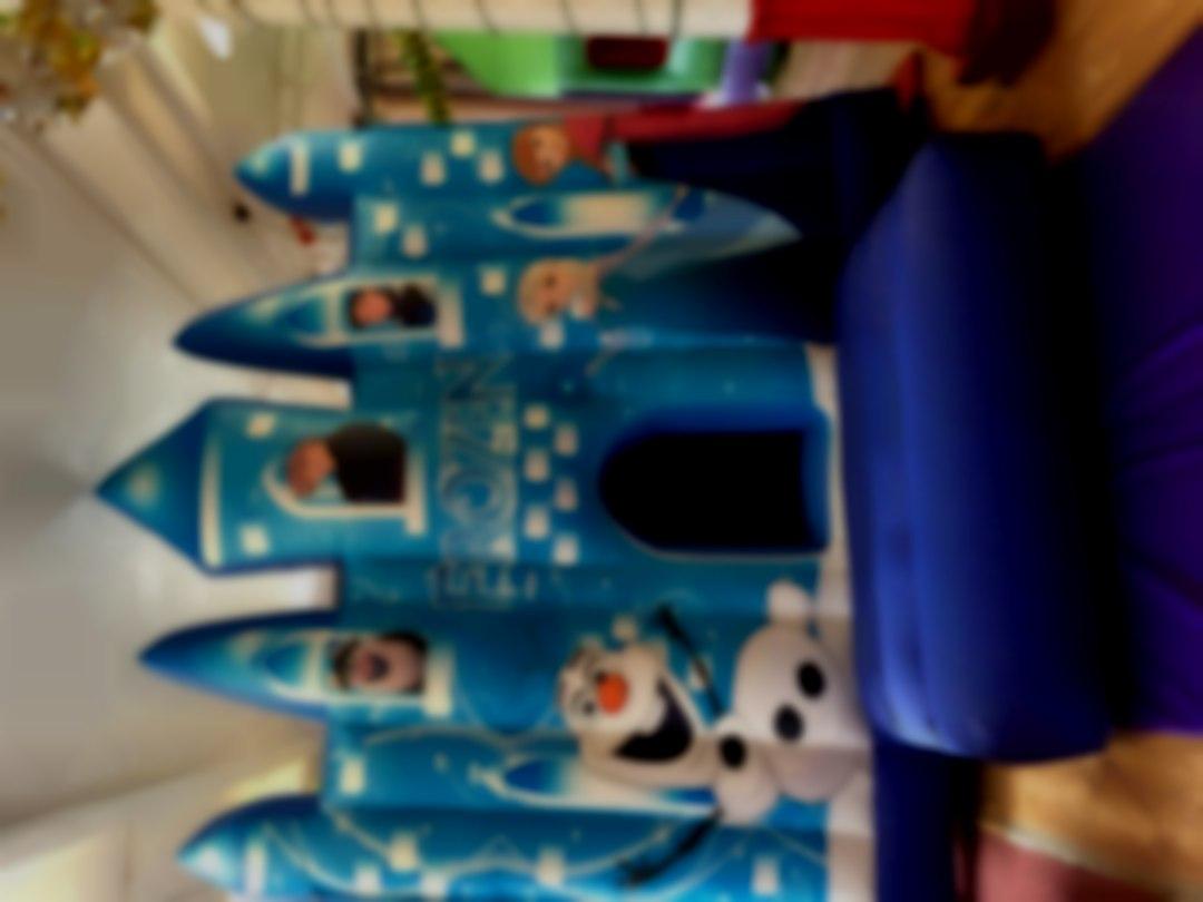 Frozen Ice  palace bouncy castle hire