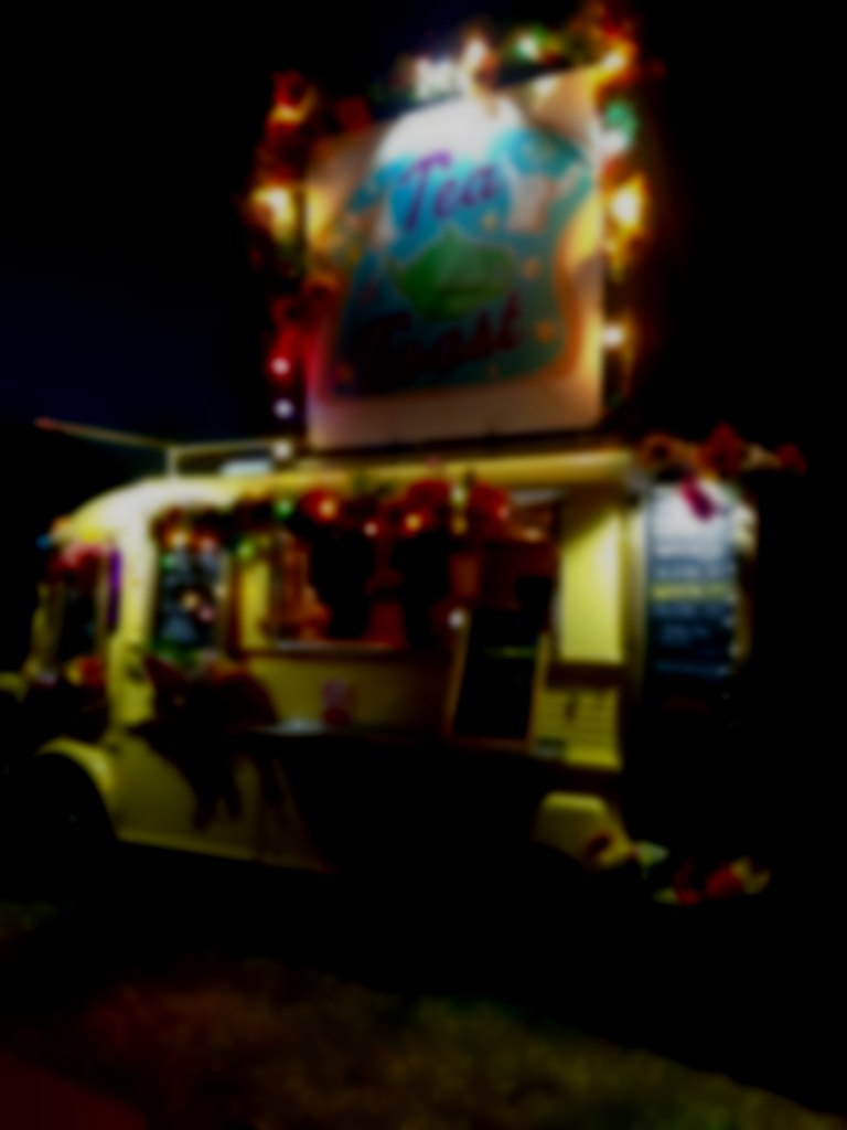 Toast Van at night
