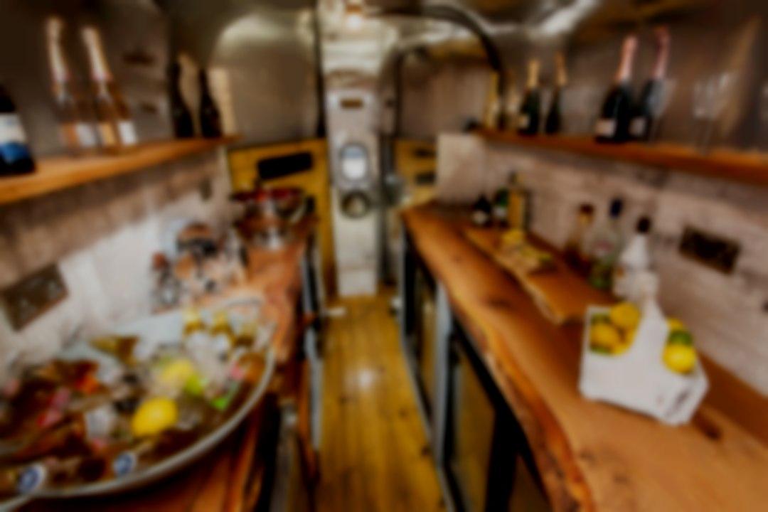 Inside the bar horse trailer bar (Cheshire)