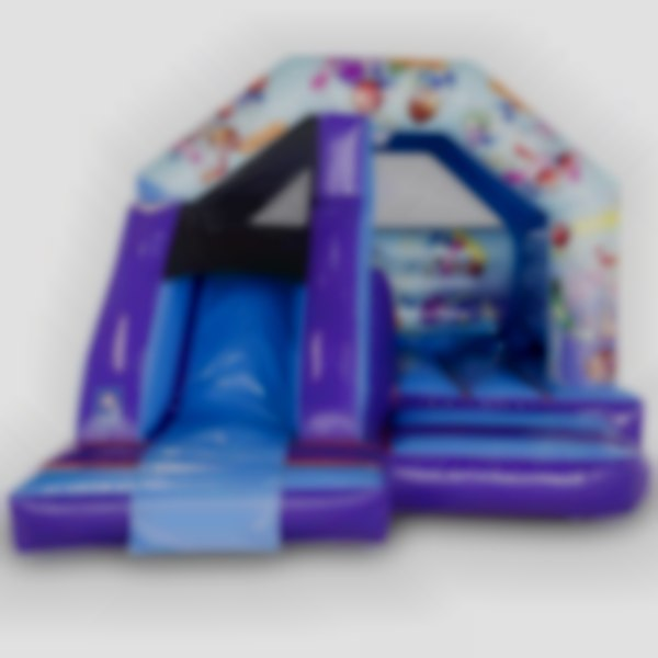 Party Themed Bouncy Castle With Slide
