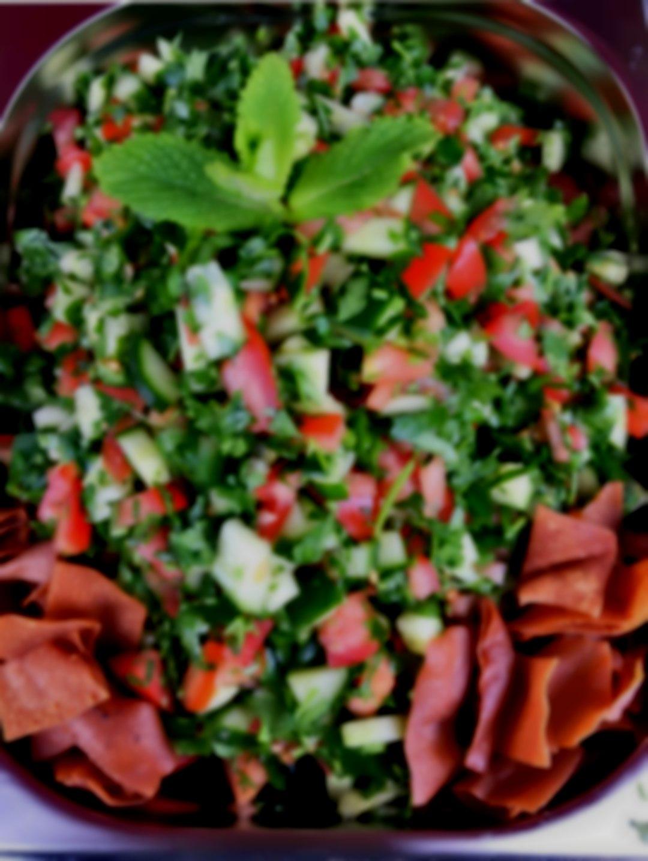 Fattoush salad, authentic Lebanese salad