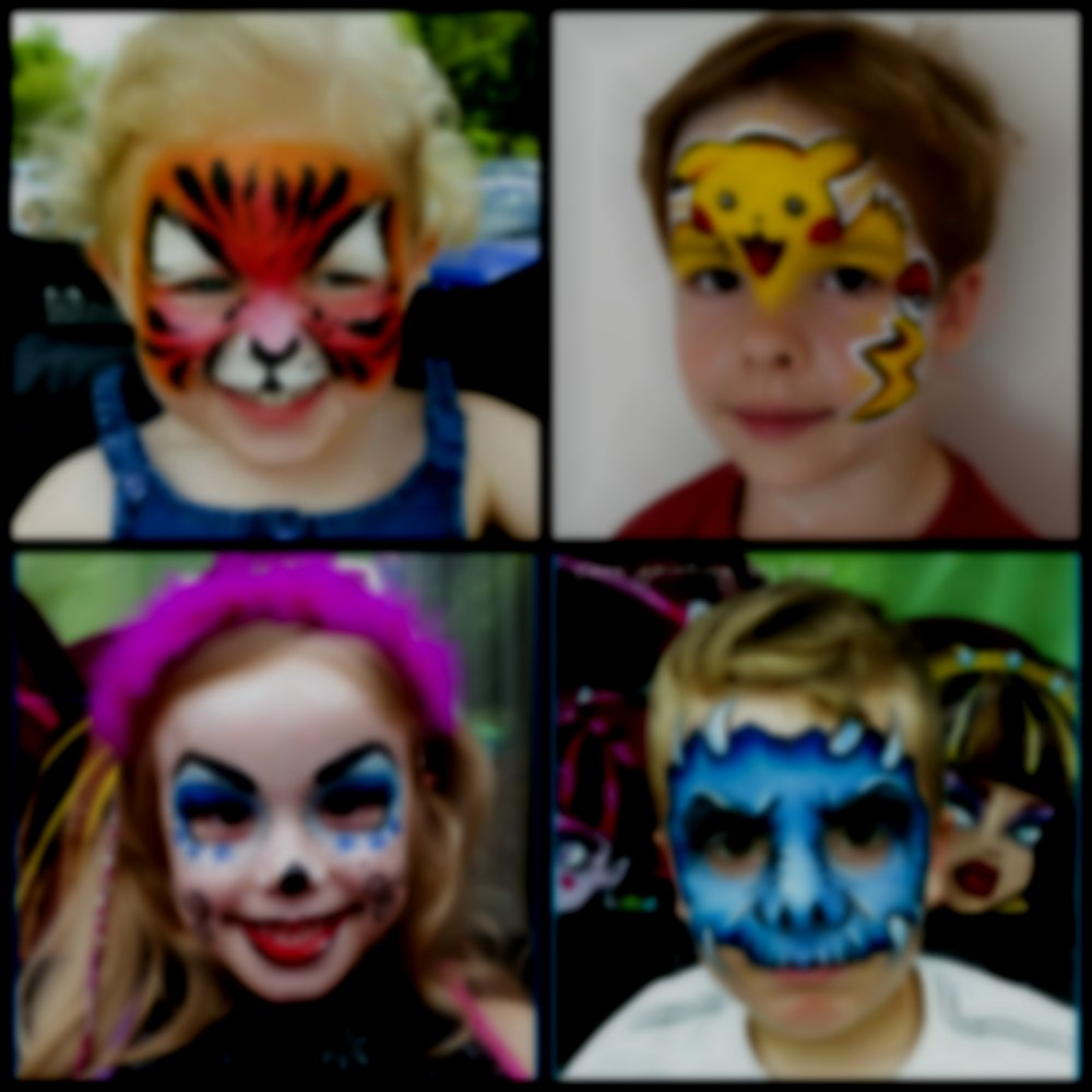 The best face painter in Telford