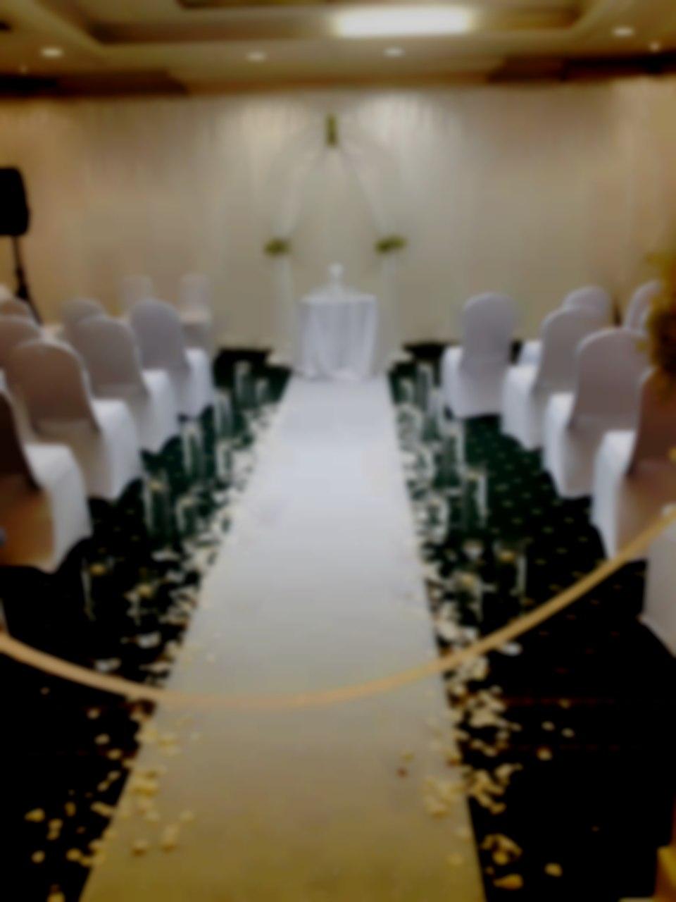 Ceremony venue decoration