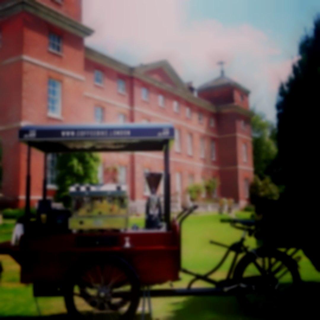 Coffee Bike London at a Norfolk Wedding