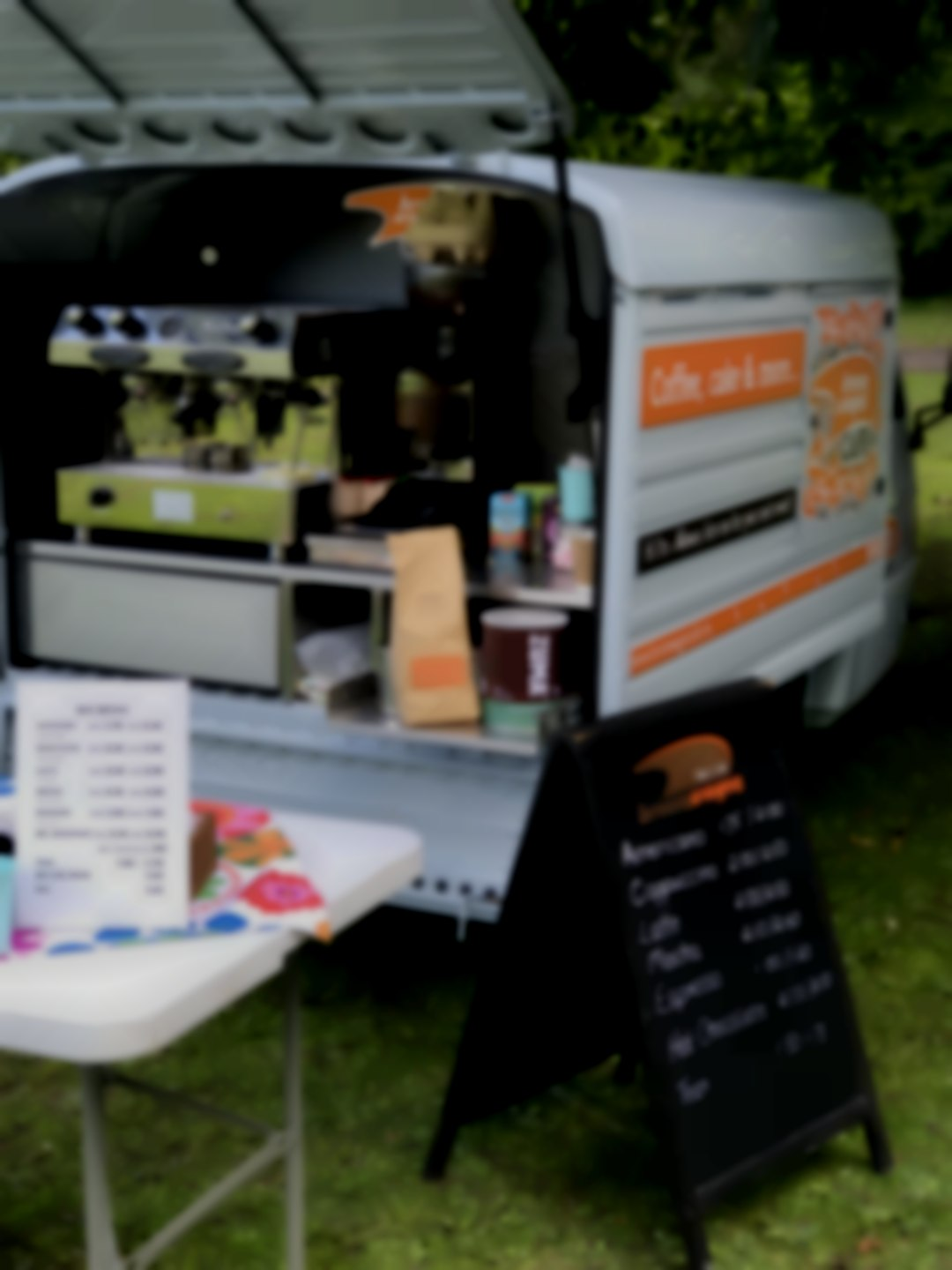Mobile coffee caterer