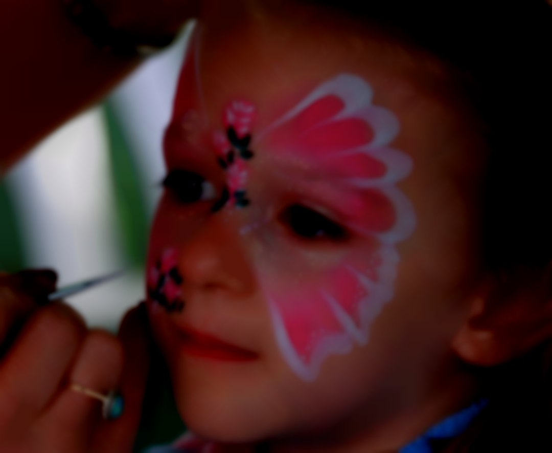 Face painting is a popular activity for all ages.