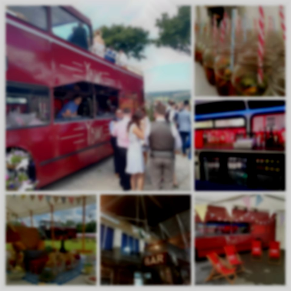 Huw Bach our Converted Double Decker Bus offering a full pop up pub service perfect for large or small events, Festivals, Shows, Weddings, events