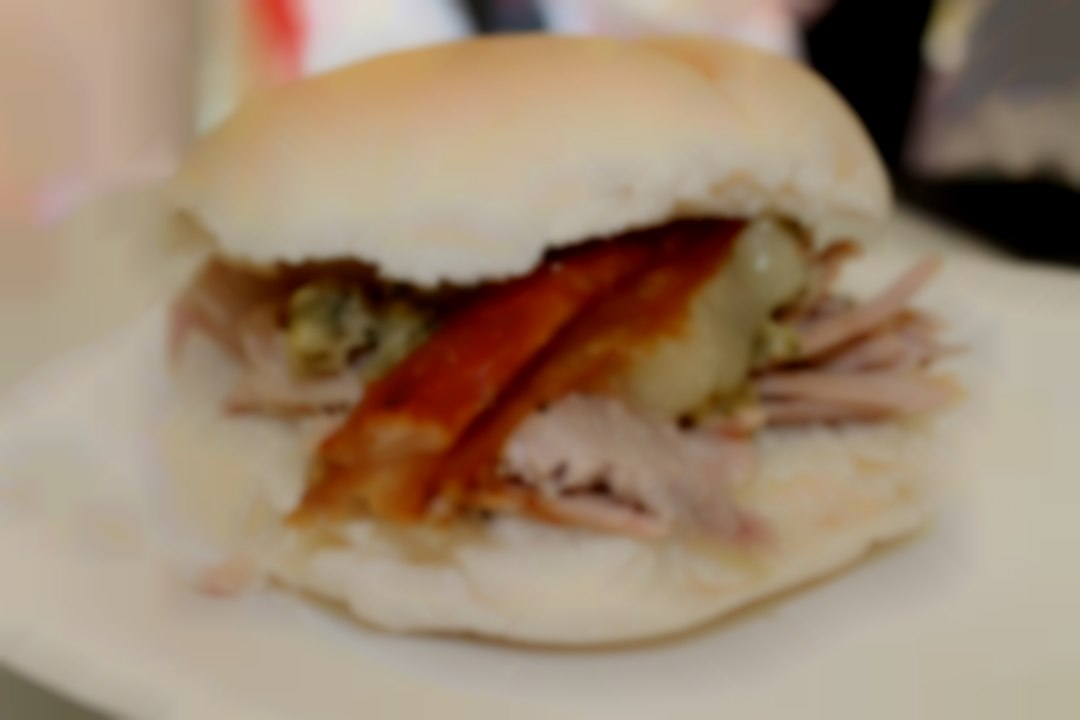 Showing one of our great pork sandwiches