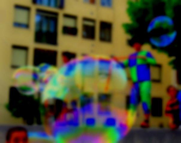 gigantic bubbles
