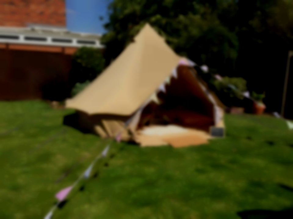 Bell tent party vintage dens Northamptonshire