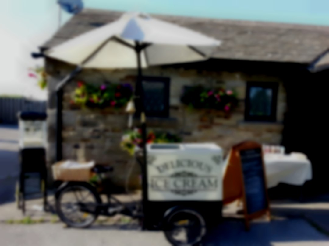 Derbyshire Ice Cream Bike 07551 756355 popcorn hire Fox & Goose Inn wedding