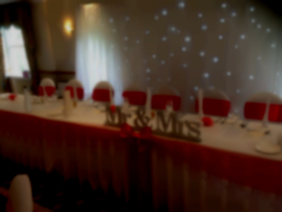 Top Table and Backdrop Razzmatazz Occasions