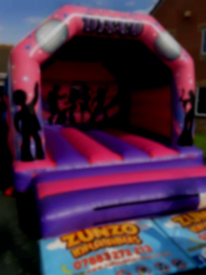 Pink & Purple Disco Bouncy Castle