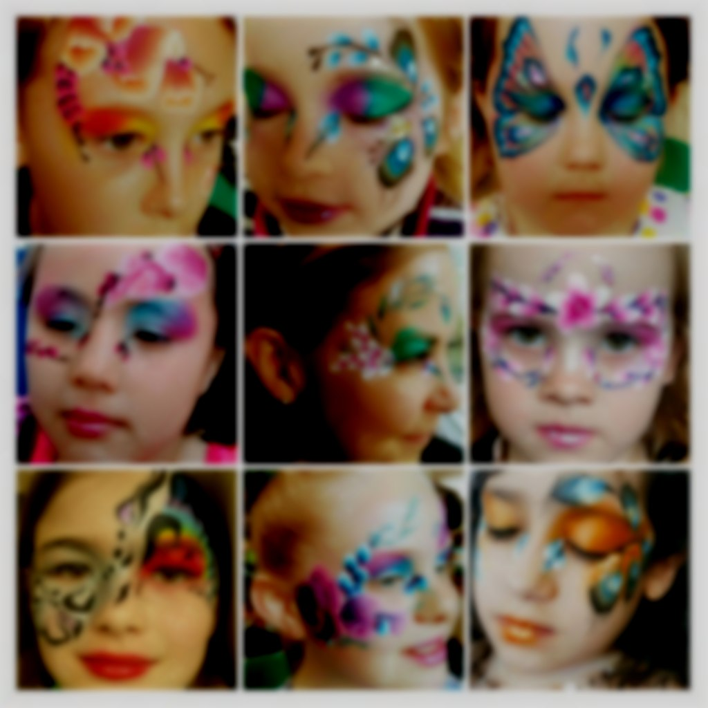 Girls face painting by sunny-faces