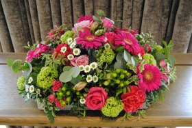 lime and fuchsia arrangement
