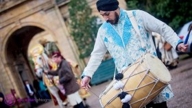 Dhol Players and White Horse at Tatton Park, Cheshire/Chester