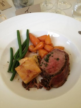 A Platinum menu of Fillet Beef and Dauphinoise Potatoes