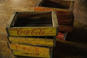 Genuine US Coca-Cola boxes..