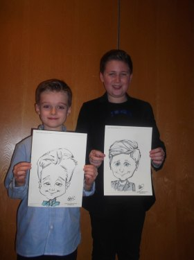 live hand drawn caricature