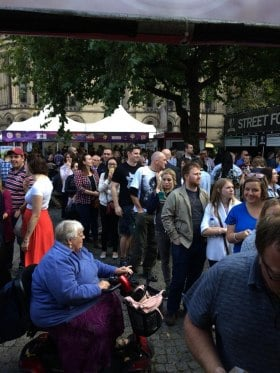 Queue at Manchester Food & Drink Festival
