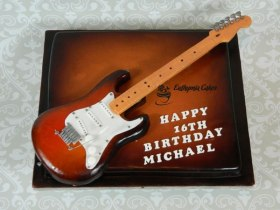 bespoke celebration cakes Guitar cake for 16th birthday