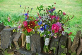 Bouquets with more than 30 varieties of seasonal blooms, grasses and wildflowers