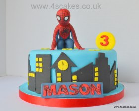 Spider man birthday cake by 4S Cakes Bromley Wedding cake cakers