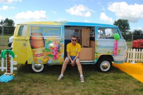 Branded campervan available for corporate events