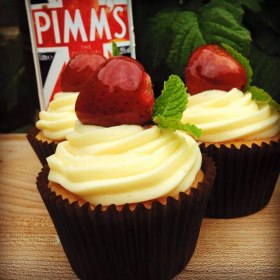 Boozy Bakers Celebration Cupcakes Pimms