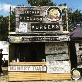 Our Hand Pressed Burger Stall