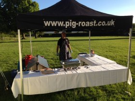 Small hog roast marquee