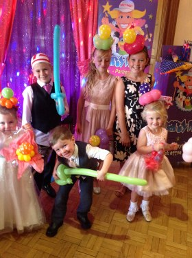Children having fun at a party