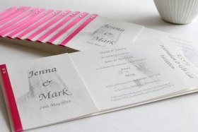 Cheque book wedding invite