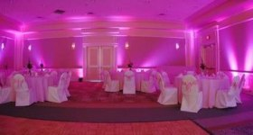 Up-lighting your event, you choose the colour