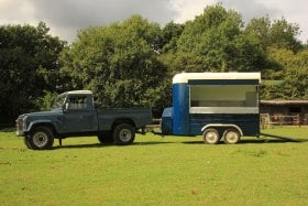 Land Rover and Horsebox