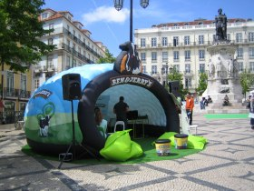 Ben & Jerry's bespoke branded and fully printed Luna inflatable structure