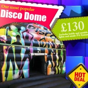 New Disco Dome Bouncy Castle feat. Music PA and Disco-Style Lights 20ft X 15ft